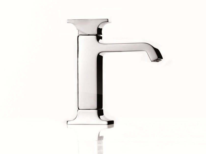 Chrome-plated single handle washbasin mixer TYPE-FACE | Washbasin mixer - RUBINETTERIE RITMONIO