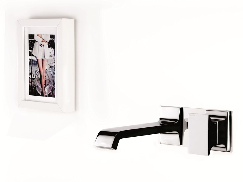 Wall-mounted single handle washbasin mixer TYPE-FACE | Wall-mounted washbasin mixer by RITMONIO
