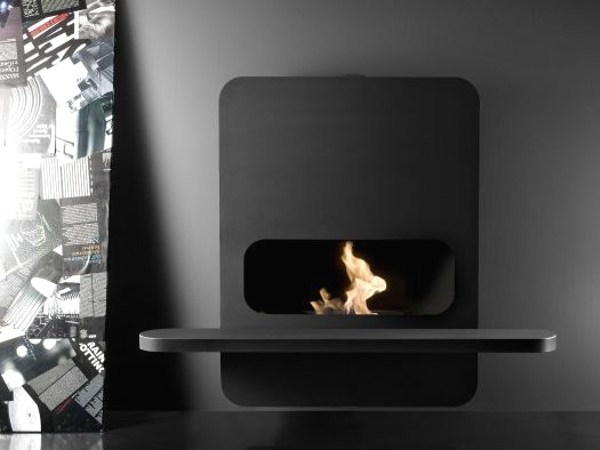 Wall-mounted steel fireplace WALL_B | Bioethanol fireplace - ANTRAX IT radiators & fireplaces