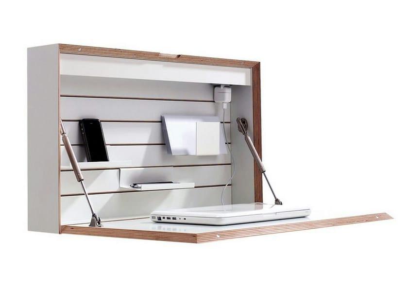 PC wooden secretary desk FLATBOX - Müller Möbelwerkstätten