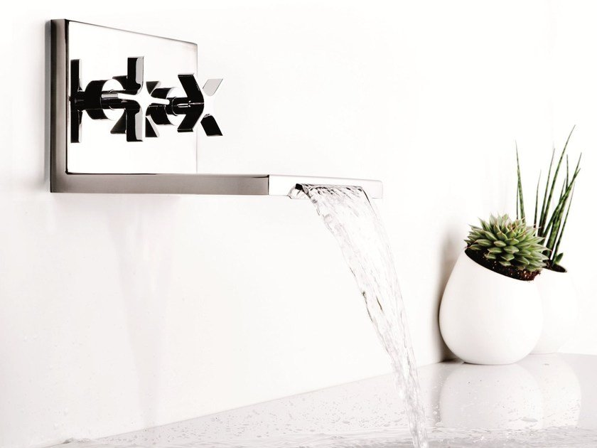 Wall-mounted waterfall bathroom tap WATERBLADE | Wall-mounted washbasin tap - RUBINETTERIE RITMONIO