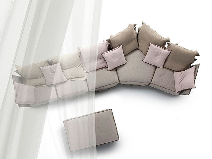 Sectional sofa INDIPENDENT by ERBA ITALIA