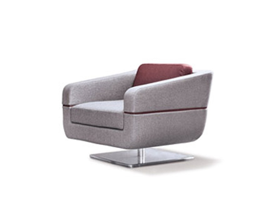 Swivel fabric armchair DUNE | Armchair - ESTEL GROUP