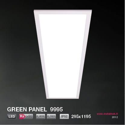 LED recessed ceiling lamp GREEN PANEL 9995 295x1195 - METALMEK ILLUMINAZIONE