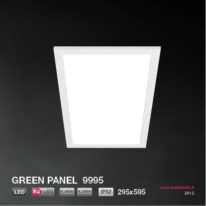 LED methacrylate built-in lamp GREEN PANEL 9995 295x595 - METALMEK ILLUMINAZIONE