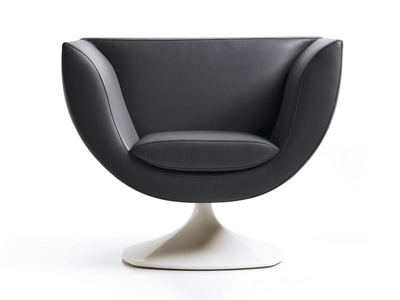 Swivel armchair with fire retardant padding SPLINE | Swivel armchair by ESTEL GROUP