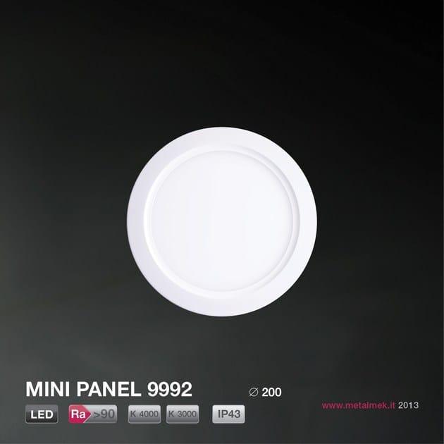 LED recessed ceiling lamp MINI PANEL ROUND 9992 ∅ 200 LED - METALMEK ILLUMINAZIONE
