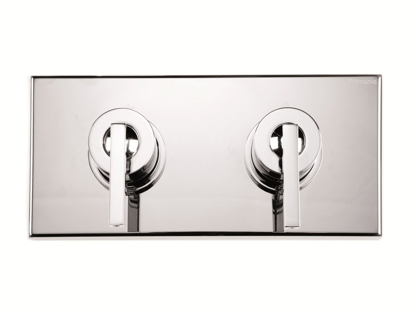 2 hole chrome-plated shower tap with plate WATERBLADE J | 2 hole shower tap - RUBINETTERIE RITMONIO