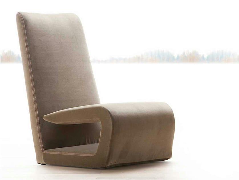 Upholstered armchair with headrest TIMELESS - ERBA ITALIA
