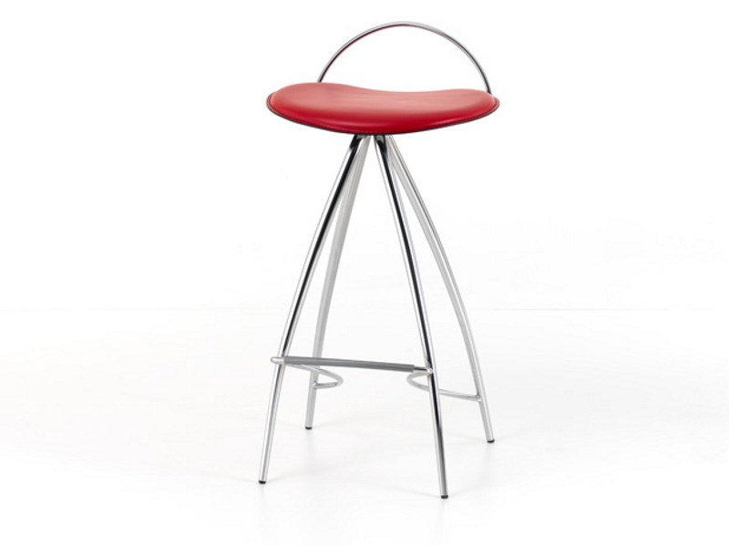 Tanned leather barstool COCO by Cattelan Italia