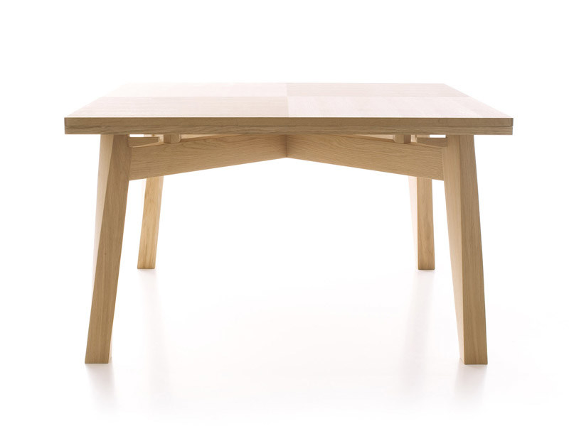 Extending solid wood table BACCO - ESTEL GROUP