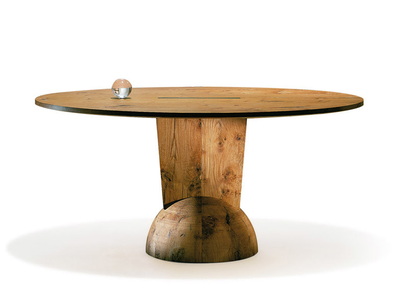 Oval reclaimed wood table BRANCUSI | Oval table by ESTEL GROUP