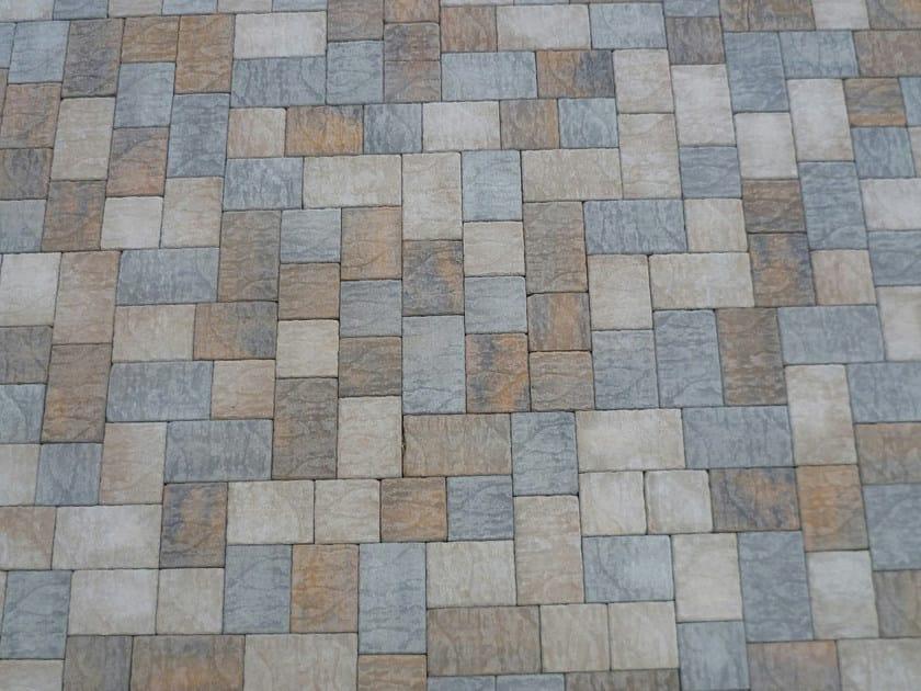 Pavimento per esterni in cemento effetto pietra borgo sabbia favaro1 - Baldosas de cemento ...