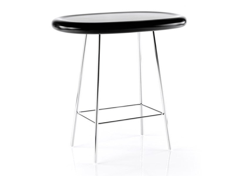 Oval polyurethane table BLOOB | High table - ESTEL GROUP
