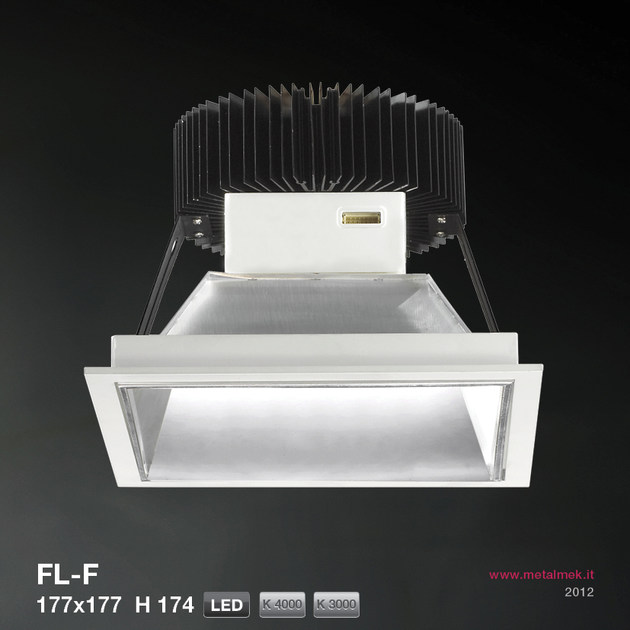 LED recessed spotlight FL-F SQUARE VERSION 177X177 H174 | Spotlight - METALMEK ILLUMINAZIONE