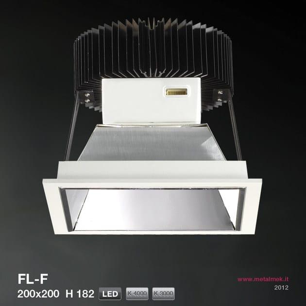 LED recessed spotlight FL-F SQUARE VERSION 200X200 H182   Spotlight - METALMEK ILLUMINAZIONE