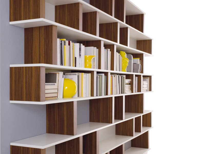 Lacquered bookcase UP-PILL - ESTEL GROUP