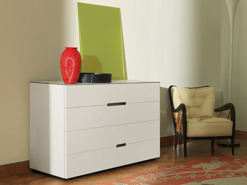 Lacquered wooden dresser PALEA | Dresser by ESTEL GROUP