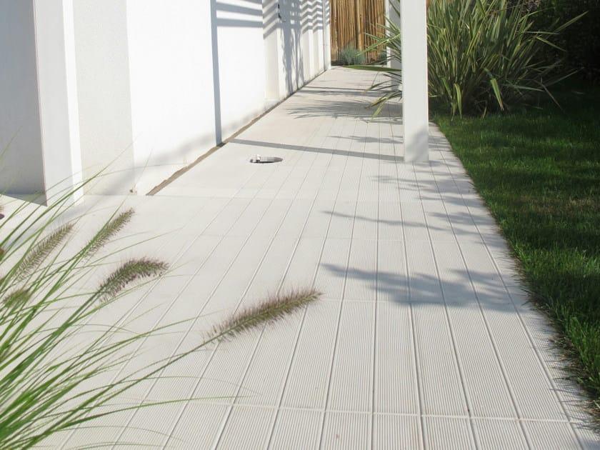 Pavimento per esterni in cemento effetto legno doga 50x50 favaro1 - Pavimento esterno finto legno ...