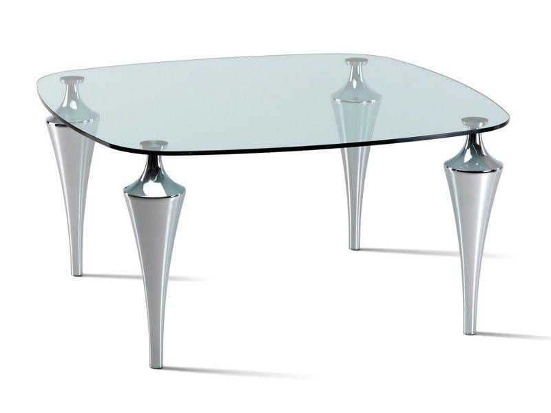 tavolo quadrato in cristallo etro by cattelan italia