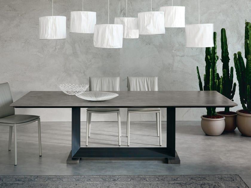 Tavolo rettangolare in marmo monaco eb collezione monaco for Tavolo marmo design