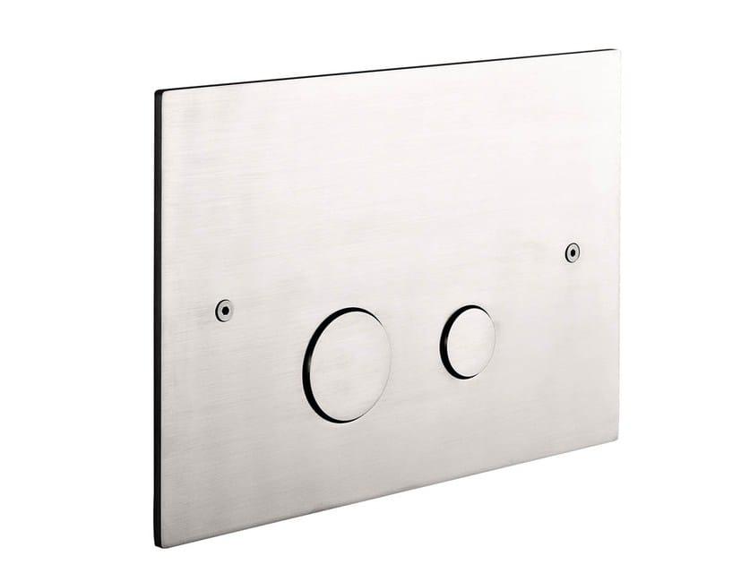 Stainless steel flush plate EMME | Flush plate - MINA