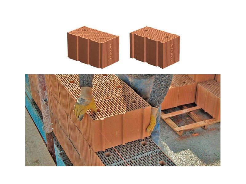 Loadbearing clay block PLAN blocks - Consorzio Poroton Italia