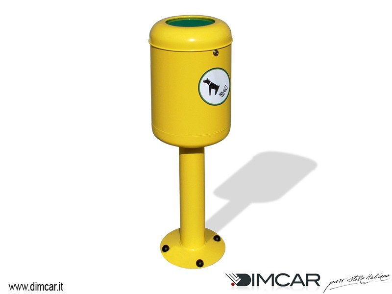 Metal dog waste bin for waste sorting Cestino Fido by DIMCAR
