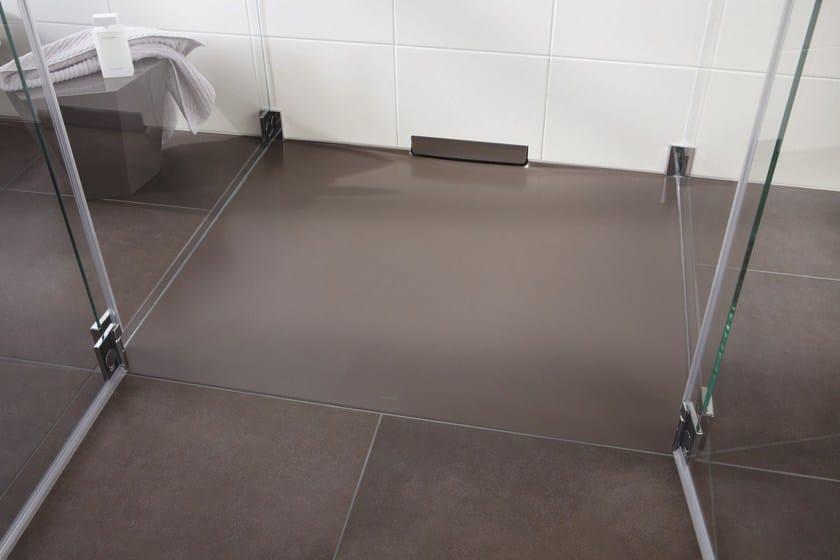 Piatto doccia filo pavimento in acciaio smaltato xetis - Piatto doccia a filo ...