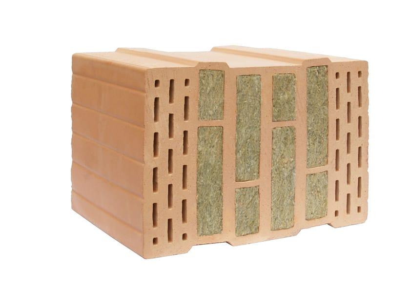 Clay block for loadbearing masonry THERMOPLAN® MZ MAXXI - DECORUS