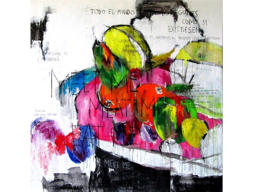 Bodegón - acrylic on canvas - 150 x 150 cm