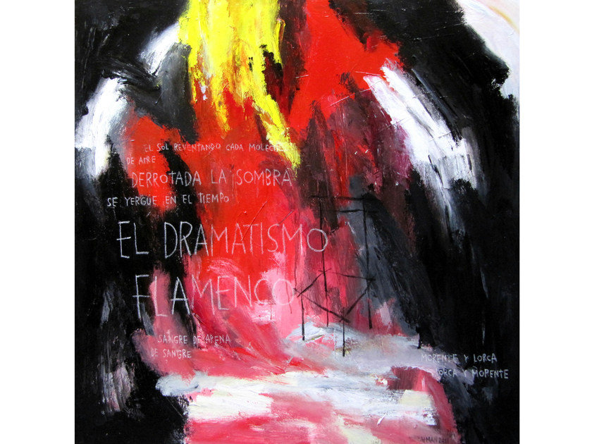 Acrylic on canvas FLAMENCO - ICI ET LÀ