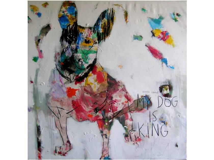 Acrylic on canvas DOG#2 by ICI ET LÀ
