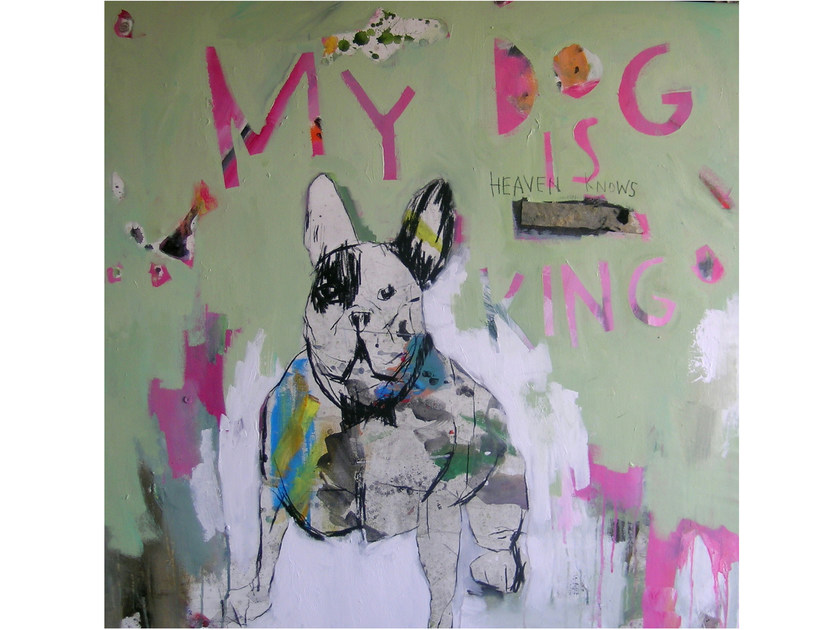 Acrylic on canvas DOG#1 - ICI ET LÀ
