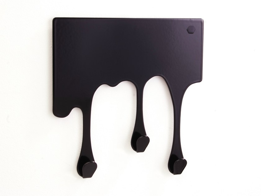 Wall-mounted steel coat rack DROP XS - pulpo, Ursula L'hoste
