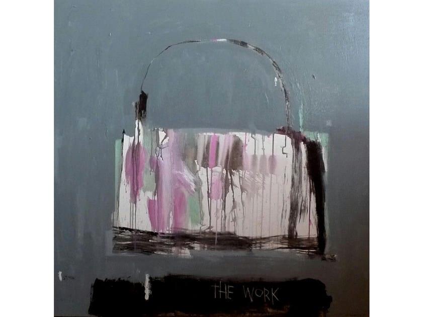 Acrylic on canvas HANDBAG THE WORK - ICI ET LÀ