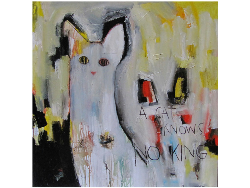 Acrylic on canvas GATO by ICI ET LÀ