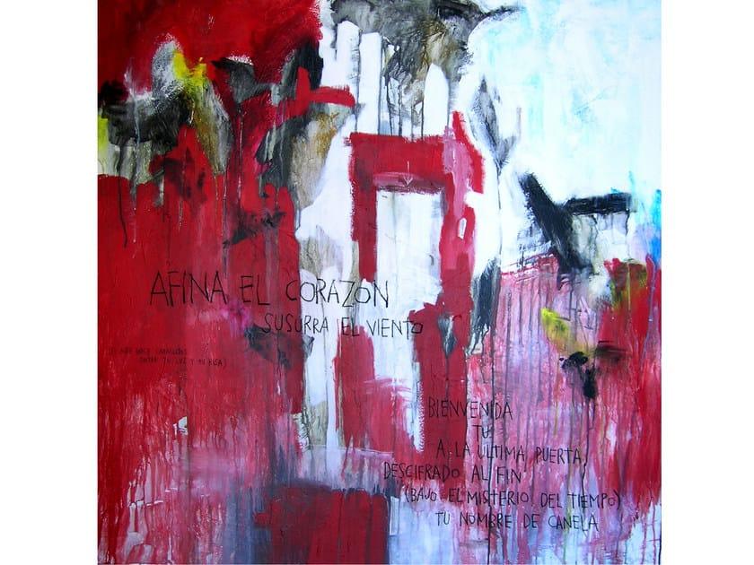 Acrylic on canvas AFINA EL CORAZON by ICI ET LÀ
