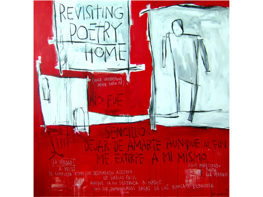 Acrylic on canvas REVISITING POETRY HOME by ICI ET LÀ