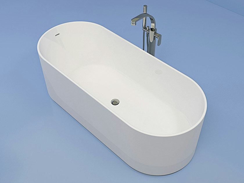 Vasca da bagno ovale in pietraluce oval ceramica flaminia - Vasca da bagno ceramica ...