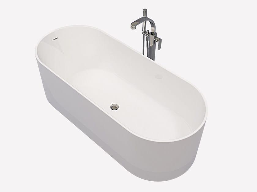 Vasca da bagno ovale in pietraluce oval ceramica flaminia - Vasca da bagno ovale ...