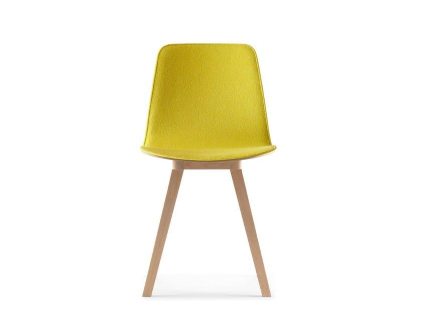 Upholstered fabric chair KUSKOA | Fabric chair - ALKI