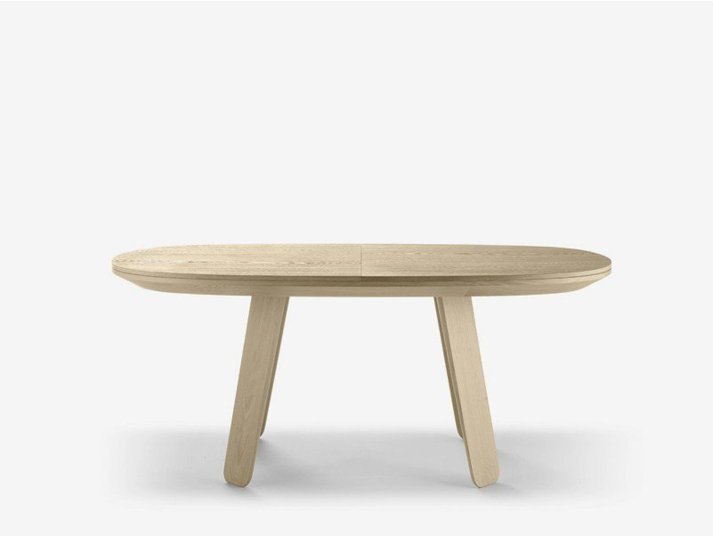 Extending oval oak table TRIKU | Extending table - ALKI