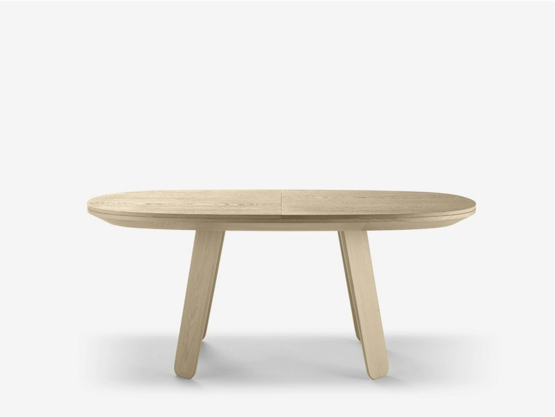 Extending oval oak table TRIKU | Extending table by ALKI