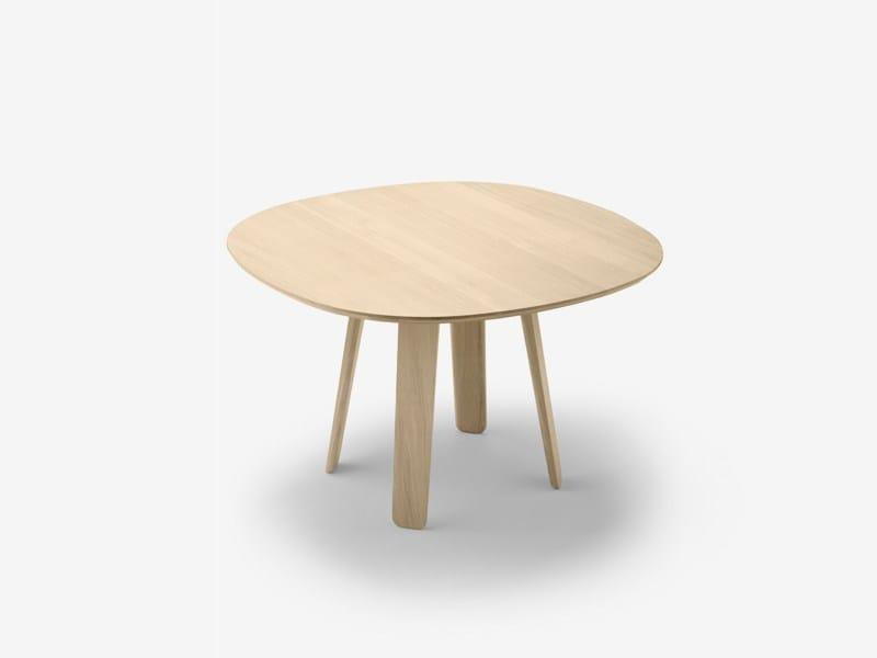 Round oak table TRIKU | Table - ALKI