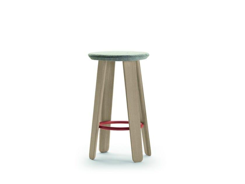 High fabric stool TRIKU | Fabric stool - ALKI