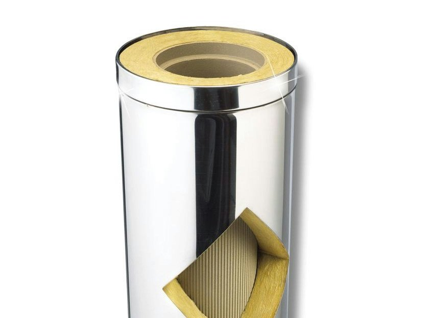 Stainless steel flue KERASTAR - Doppia parete Ceramica Inox - Schiedel