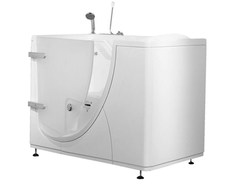 Vasca da bagno in vetroresina con porta collezione bagnosicuro 650 by ponte giulio - Porta vasca da bagno ...