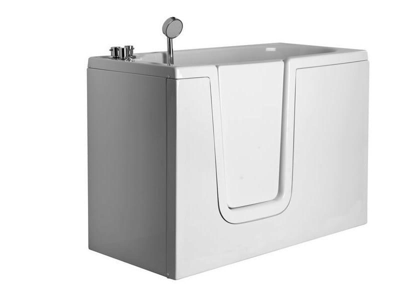 Vasca da bagno in vetroresina con porta 650 vasca da - Porta vasca da bagno ...