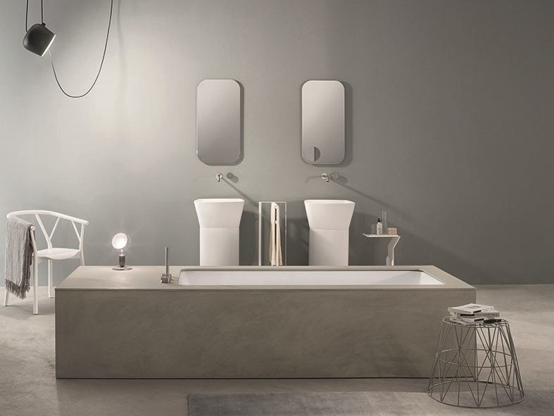 Undermount Corian® bathtub WAVE - MAKRO